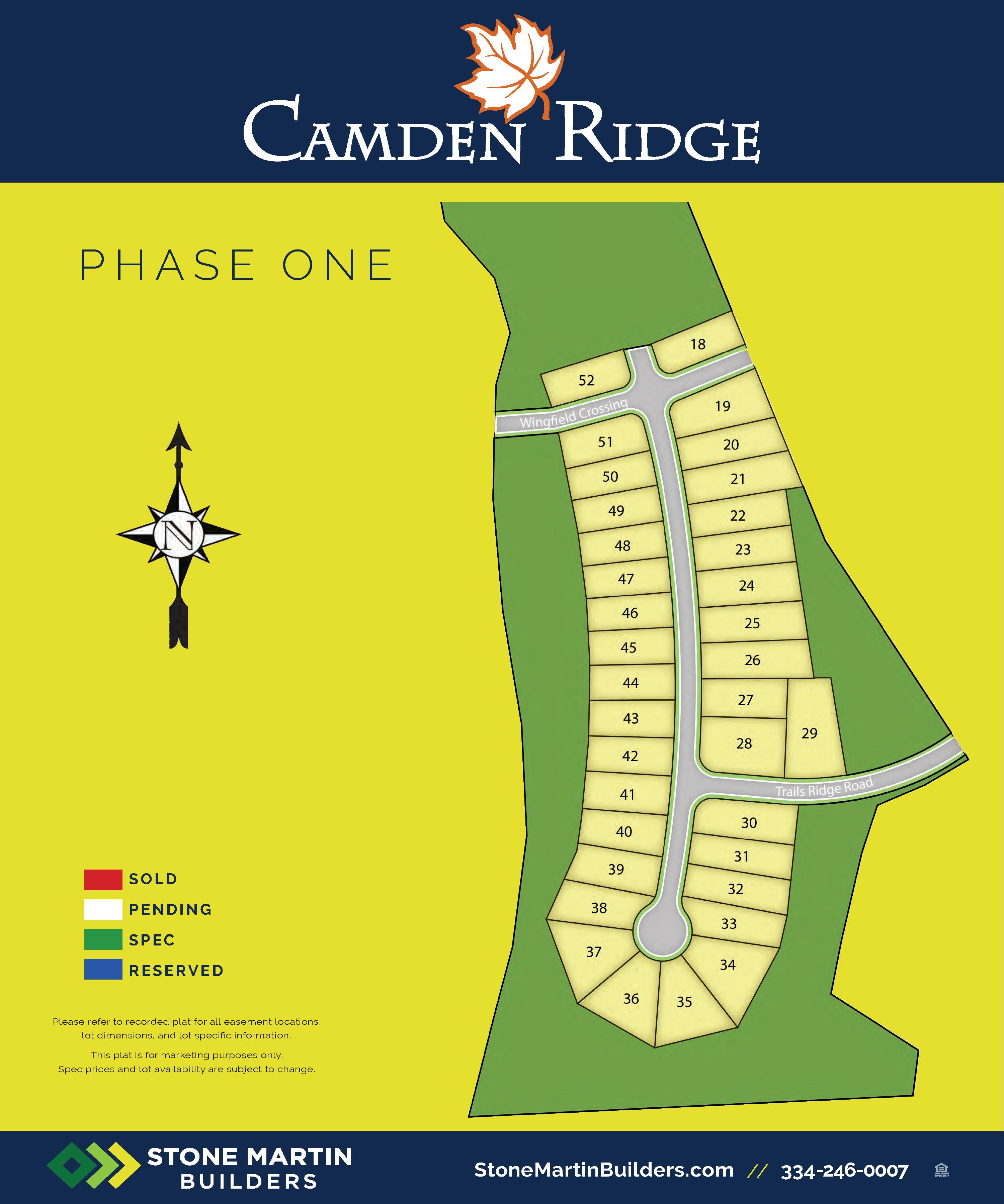 Auburn, AL Camden Ridge New Homes from Stone Martin Builders