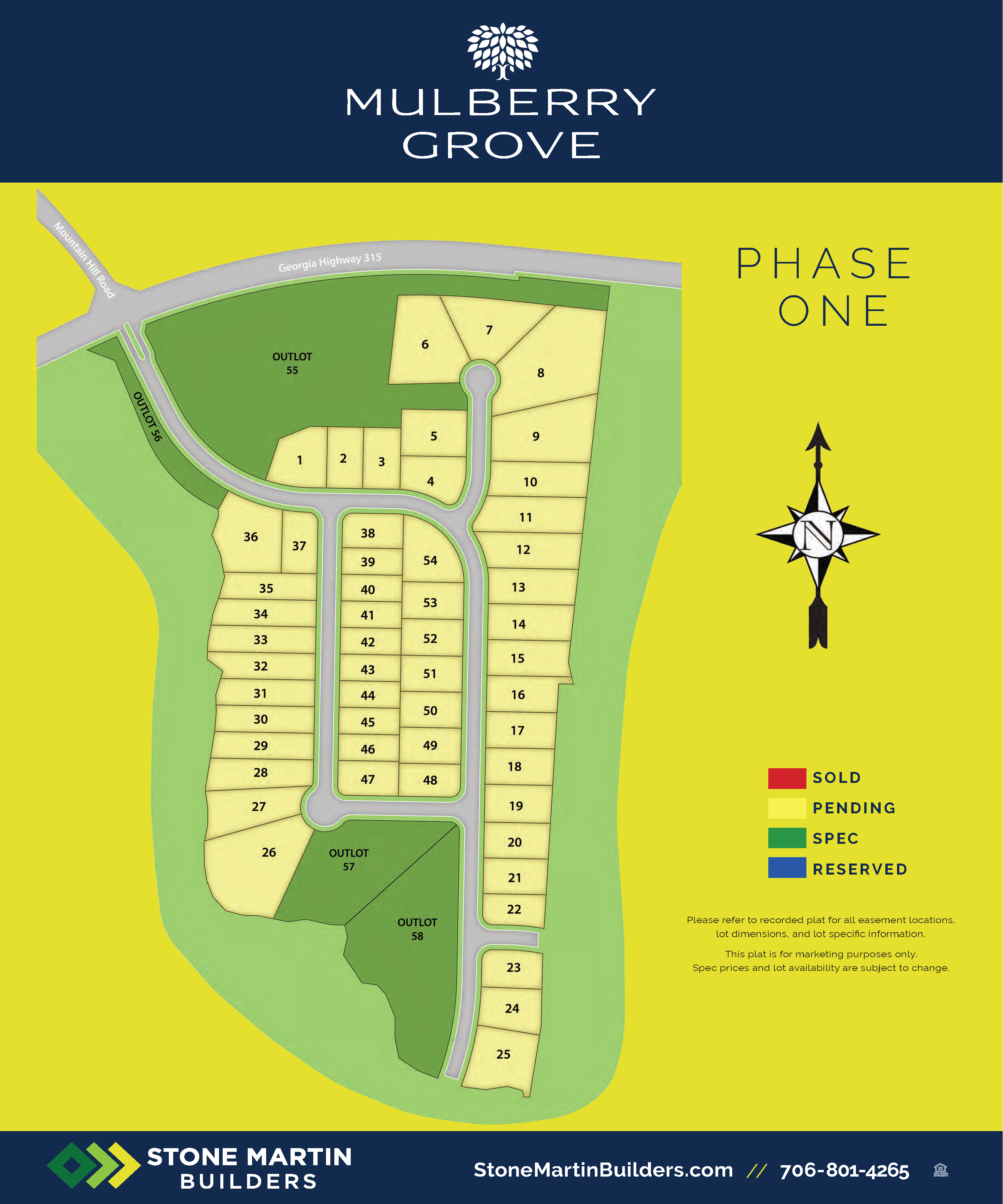 Harris County, GA Mulberry Grove New Homes from Stone Martin Builders